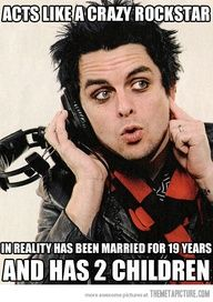 @EliFernz nos comparte una foto del vocalista de Green Day, Billie Joe