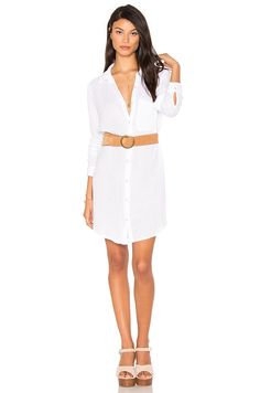 #REVOLVE  I don't own a shirt dress like this but i'm intrigued to try something like this. I love the added touch of the belt.