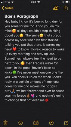 Something special from a long distance❤️🥰 Paragraph For Boyfriend, Cute Messages For Boyfriend, Sweet Boyfriend Quotes, Love Message For Boyfriend, Birthday Message For Boyfriend, Happy Birthday Quotes For Friends, Cute Text Messages, Relationship Paragraphs, Cute Relationship Texts