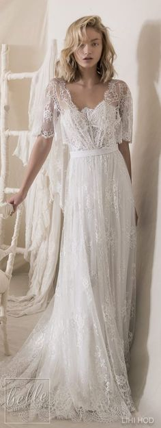 Wedding Dresses by Lihi Hod Fall 2018 Couture Bridal Collection - Emilie . - Wedding dresses from Lihi Hod Fall 2018 Couture Bridal Collection – Emilie … – # Brid - Bohemian Wedding Dresses, Hippie Dresses, Dream Wedding Dresses, Boho Dress, Bridal Dresses, Wedding Gowns, Couture Dresses, Bohemian Hair, Wedding Ceremony