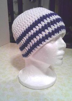 Indianapolis Colts Team Colors Beanie ~ @Jen Lewis how about something similar?  and I can reverse the pattern so that the two are similar, but different