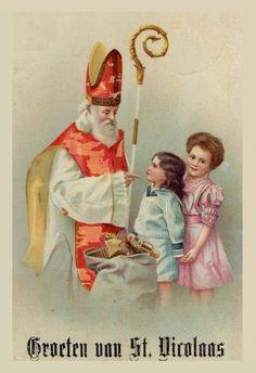 Groeten van St. Nicolaas, ansichtkaart