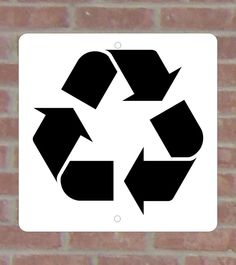 Recycled .040 Metal Aluminum Vinyl Sign 1 color