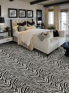 12 Ways to Incorporate Carpet in a Room's Design:  From DIYNetwork.com from DIYnetwork.com