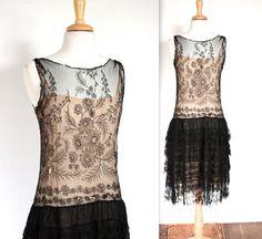 SALE Vintage 1920's Dress // 20s Embroidered by TrueValueVintage