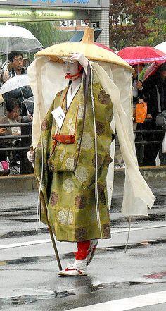 Jidai Matsuri--showing what a noble woman would wear while traveling.