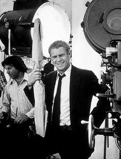 """The Getaway"" Steve McQueen on the set, Solar/Fine Art 1972."