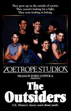 The Outsiders (1983 - C. Thomas Howell, Matt Dillon, Ralph Macchio, Emilio Estevez, Patrick Swayze, Rob Lowe, Tom Cruise, Diane Ladd, Leif Garrett