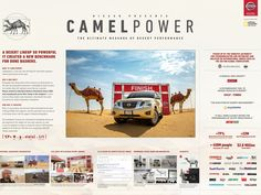 When horsepower is just not enough. Advertising Awards, Ads, Desert Animals, Concept Board, Public Relations, Design Reference, Lineup, Nissan, Deserts