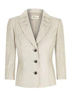 Buy Precis Crinkle Jacket, Oyster from our Women's Coats & Jackets range at John Lewis & Partners. Coats For Women, Jackets For Women, Clothes For Women, Blue Slim Fit Suit, Essential Wardrobe Pieces, Official Dresses, Sewing Blouses, Womens Dress Suits, Work Suits