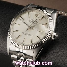 Rolex Datejust Vintage - White Gold Bezel REF: 16014 | Year 1979 - A vintage classic, this Rolex Datejust from 1979 sports a crisply fluted white gold bezel complementing the silver dial perfectly... Fitted to a vintage Jubilee bracelet, powered by one of the most famously reliable automatic movements of all time and water resistant thanks the screw-down crown - for sale at Watch Club, 28 Old Bond Street, Mayfair, London