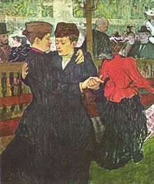 Henri de Toulouse-Lautrec, At the Moulin Rouge: Two Women Waltzing, 1892