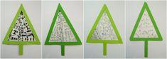 DEKORAČNÍ STROMEČEK - dekorovat vnitřek stromečku jednoduchými vzory (zentangle, práce s papírem) | Výtvarná výchova Triangle, Games, Zentangle, Zentangle Patterns, Gaming, Zentangles, Plays, Game, Toys