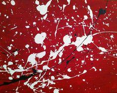 "Art Original Abstract ""DISSIDENT"" (Jackson Pollock inspired) on premier canvas by OriginalArtByVanessa, $75.00"