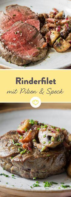 Rinder-Filet mit Rotwein-Vinaigrette