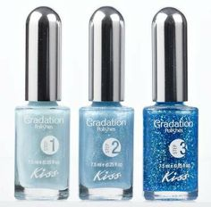 Kiss Gradation In Big Break Nail Polish Kit  in the blue. Looks pretty cool!! Can't wait to try my gold!!!