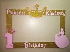Resultado de imagen para marco de fotos dorados de princesa