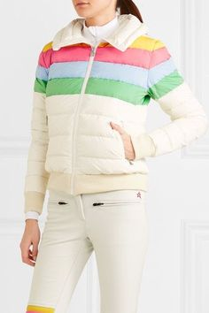 Perfect Moment - Queenie Quilted Down Ski Jacket - White -