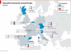 Separatist movements around Europe