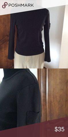 LRL crew neck top Cotton top with small pocket on left arm Lauren Ralph Lauren Tops Tees - Long Sleeve