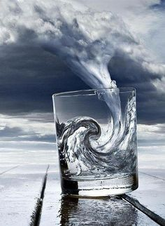 wave in a glass