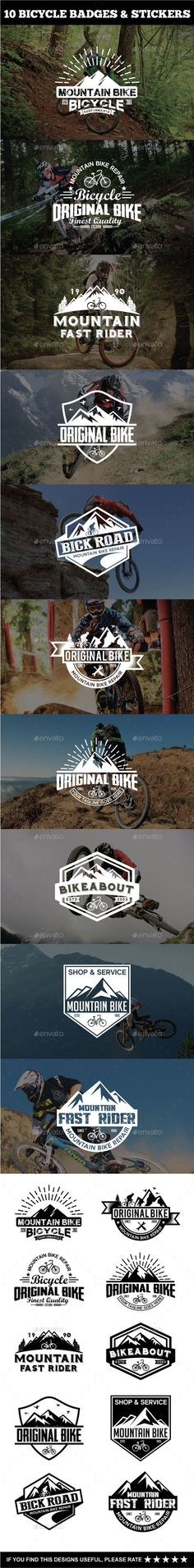 Sport Bicycle Badges & Stickers Template Vector EPS, AI #design Download: http://graphicriver.net/item/sport-bicycle-badges-stickers/14552759?ref=ksioks