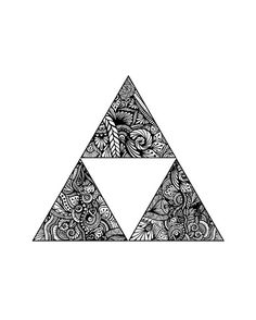 Decorative triangular art print home decor by WestridgeART on Etsy