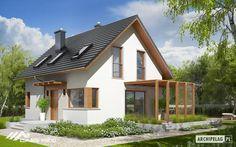 Projekt domu AC Lea (wersja B) CE - DOM - gotowy koszt budowy Frame Light, Construction Types, Vestibule, Design Case, Home Fashion, Ground Floor, Steel Frame, Home Projects, Living Area