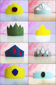 Cutesy Crafts: Felt Princess Crowns