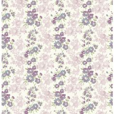 Brewster Wallcovering Plum Classic Floral Wallpaper 2657-22255