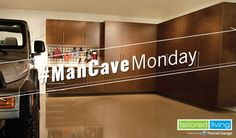 A Man Cave will be as unique as the man that inhabits it. As a place for a man to enjoy his own pursuits, a Man Cave could have one theme or several combined. A combination of garage cabinets, Gridwall racks (steel grids) or Slatwall (PVC panels), overhead storage and garage shelving will get your garage under control and free up the space to build that ideal Man Cave. Add a custom garage floor as the finishing touch and he can move right in! #ManCave