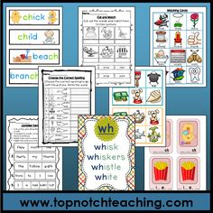 Do you often find yourself grasping for some new ideas to introduce and teach phonics and digraphs to your students? The Ultimate Digraph Teaching Kit is essential for all teachers who are responsible for language development of young children.  It is presented in a format that will assist with quick and easy access, and will provide you with all the necessary activities to teach the digraphs: sh, ch, th, ck, wh, ng, qu, ai, ay, a-e. http://topnotchteaching.com/ultimate-digraph-teaching-kit/