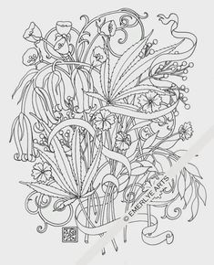 "Cynthia Emerlye, Vermont artist and life coach: ""Bent"" - a hemp cannabis adult coloring page"
