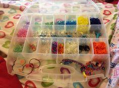 Rainbow loom storage box