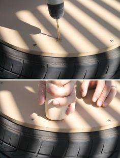 DIY Tire Coffee Table