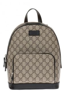 4b7478bcc Made In Italy Gg Supreme Logo Canvas Backpack - Backpacks - T.