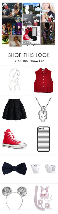 """"""": ♔; auradon prep // round o1 - villains arrival :"""" by crystalcat-pixel ❤ liked on Polyvore featuring Disney, Kimberly McDonald, Chicnova Fashion, Chicwish, Alex Woo, Converse, Casetify, MANGO and APround01"""
