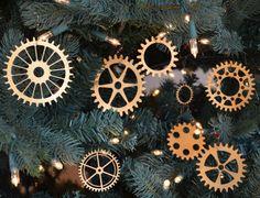 Steampunk Gear Christmas Ornament Set of 13