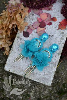 Soutache Earrings, Boho Earrings, Boho Jewelry, Jewellery, Classy Women, Florence, Maya, Color Schemes, Swarovski Crystals
