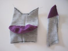 How to make a sock cat, tutorial and instructions.
