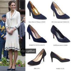 Kate Middleton Style. Alexander McQueen navy suede heels repliKates