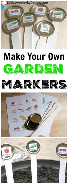 DIY Garden Marker Stakes are easy to make and a fun project for kids in the garden. Labeling your garden is simple with this easy do it yourself solution. #gardening #DIY #gardenmarkers