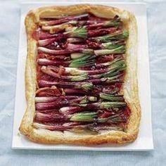 Red Onion & Serrano Ham Tart  -  From BBC Good Food, found at www.edamam.com.