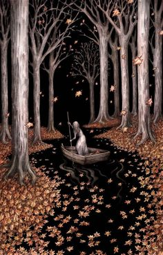 'Driftwood Gold' by Adam Oehlers Giclee Archival quality print Hand Embellished with gold ink Each piece has its own unique drift of golden. Art And Illustration, Illustrations, Fantasy Landscape, Fantasy Art, Dark Fairytale, Gold Ink, Dark Art, Wicca, Art Inspo