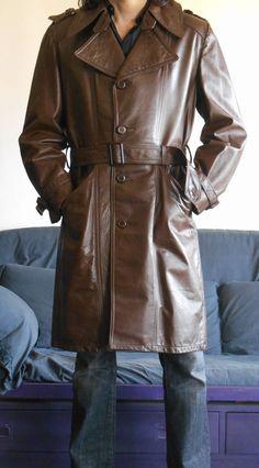 Mens american leather trench coat vintage 70's size M in Abbigliamento e accessori, Uomo: abbigliamento, Cappotti e giacche | eBay