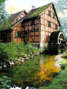 'Die Schleifmühle Schwerin 1/4' von Dirk h. Wendt bei artflakes.com als Poster oder Kunstdruck $18.02