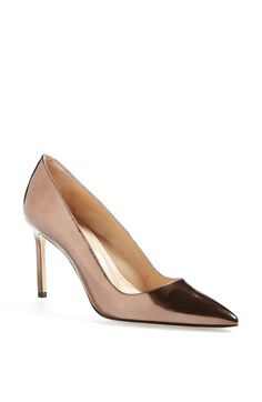 The iconic BB pump is done up in bronze metallic leather for an unforgettable finish. Pre-order this style today! Add to Shopping Bag to view approximate ship date. You'll be charged only when your item ships. Color(s): bronze. Brand: MANOLO BLAHNIK. Style Name: Manolo Blahnik 'BB' Patent Leather Pointy Toe Pump. Style Number: 883353.'