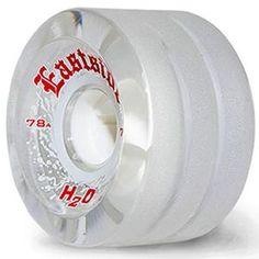 Rain Wheels! -- Eastside Longboard Wheels:H2O Rain Wheels 70mm 78a Clear SALE!
