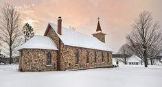 """Praga"" Saint John Nepomucene Gothic Revival Church, East Jordan Michigan.......love this church. Michigan Nut Photography"