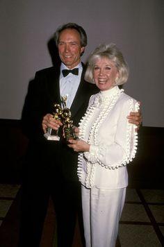 7/19/14  7:28a The  Golden Globe Awards  1/28/1989:  Doris Day   Cecil B. DeMille Life Achievement Award & Clint Eastwood  Best Director for ''Bird''  1988  Presenter: Clint Eastwood